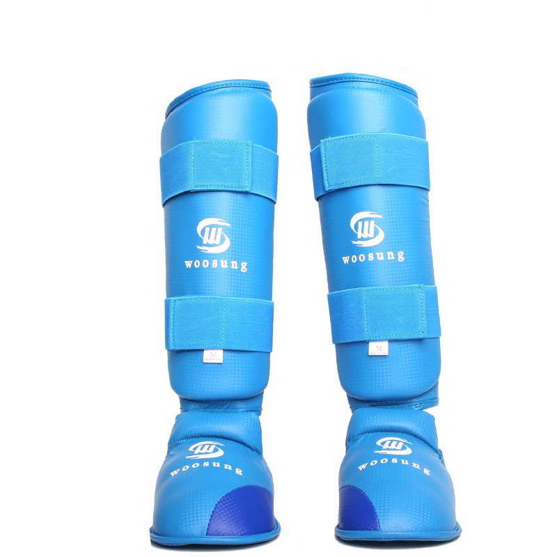 karate shin and instep guard Adult WKF approved pu polyurethane inside karate shin protector стоимость