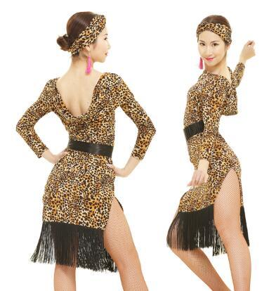 custom customize tassel latin Rumba cha cha salsa tango one-piece Latin  dance dress competition patchwork wear S-XXXL 56767562f6b4