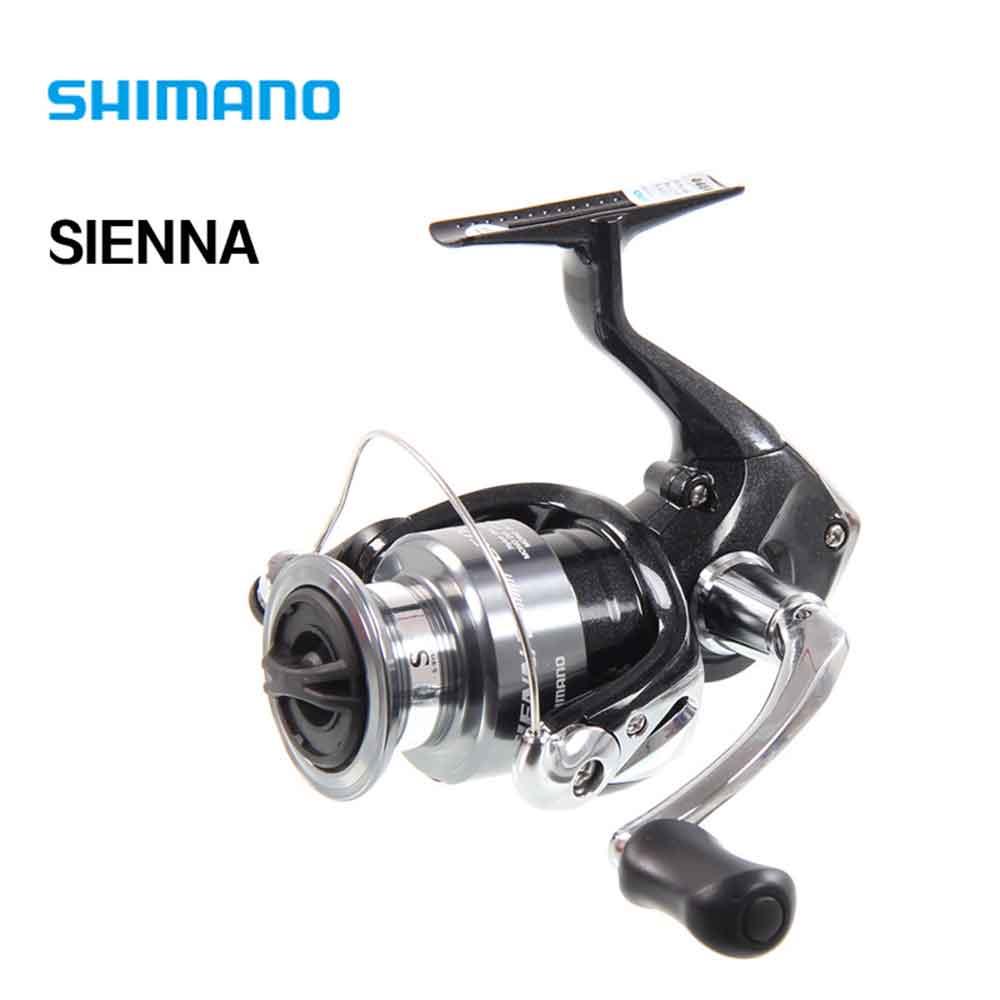 Shimano Sienna 1000fe/2500fe/4000fe spinning Pesca carrete 1 + 1bb con bobina de aluminio m-compacto Cuerpo spinning Pesca carrete