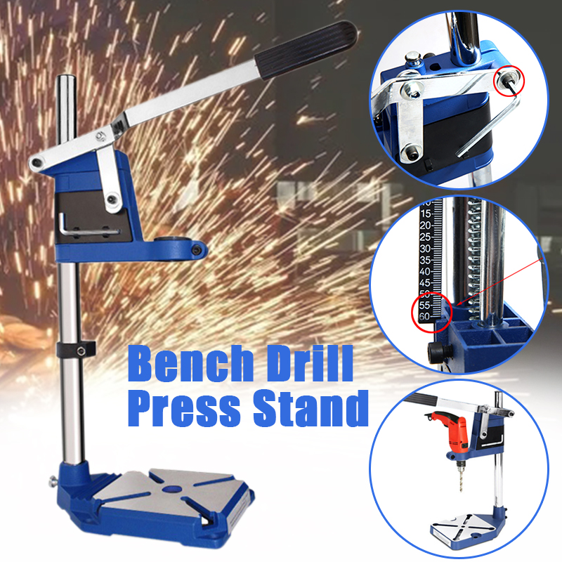 Adjustable Workbench Repair Tools Universal Bench Clamp Drilling Press Stand Hand Bench Vise Rocker Drill Stand