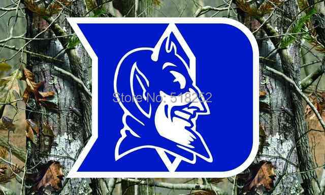 Duke Blue Devils camo fond Drapeau 3x5 FT NCAA 150X90 CM Bannière 100D Polyester drapeau Personnalisé oeillets 60