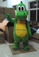 Yoshi Dinosaur Super Mario Mascot Costume Fancy Party Dress Free Shipping