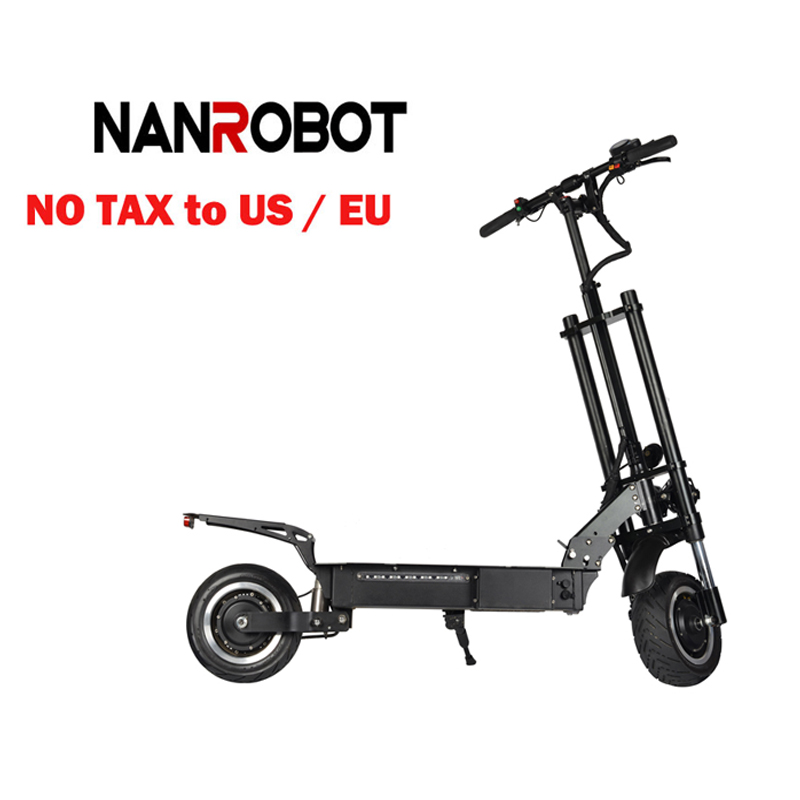 NANROBOT RS6 11 ''3200 W 60 V/31.2A 50 mi/h 55 Miles haute vitesse pliable siège amovible adulte électrique 2 roues coup de pied e Scooter