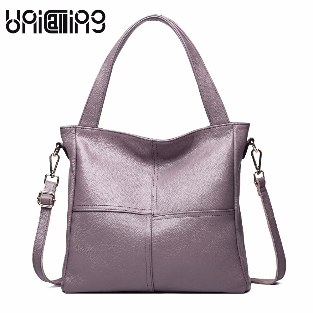 Fashion brand genuine leather women bags Patchwork Simple leisure All-match  Large capacity handbagsFashion brand genuine leather women bags Patchwork Simple leisure All-match  Large capacity handbags
