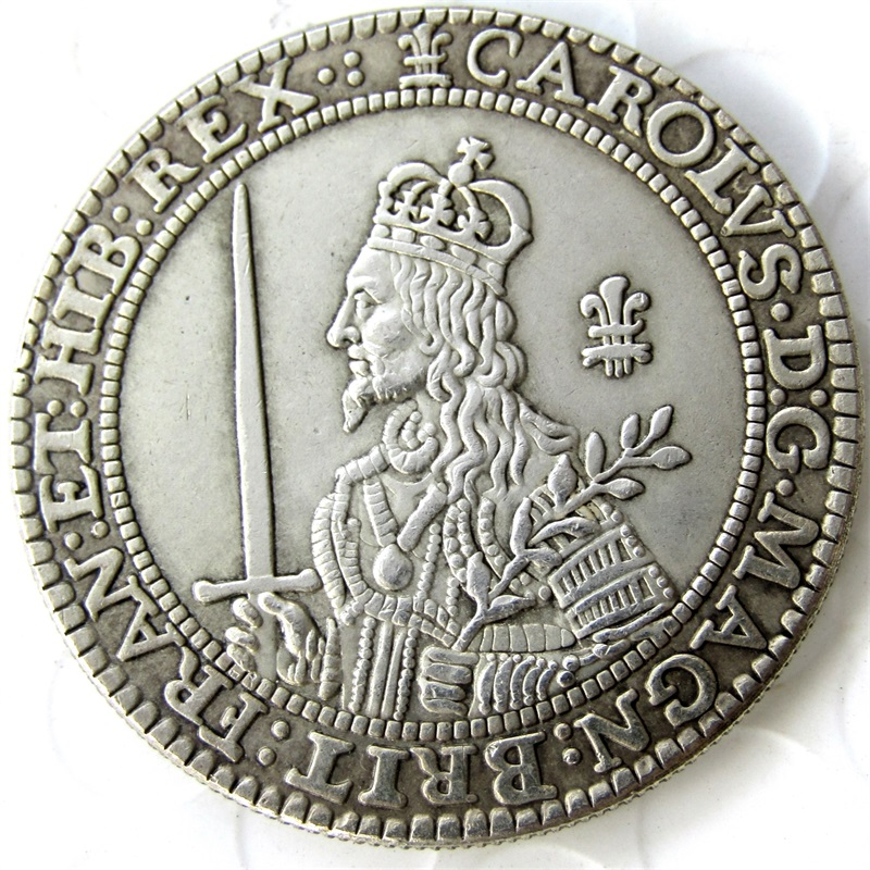 Medal 1643 United Kingdom - King Charles I of England (1600-1649) Silver-Plated Coins FREESHIPPIN Copy coins retail / wholesale