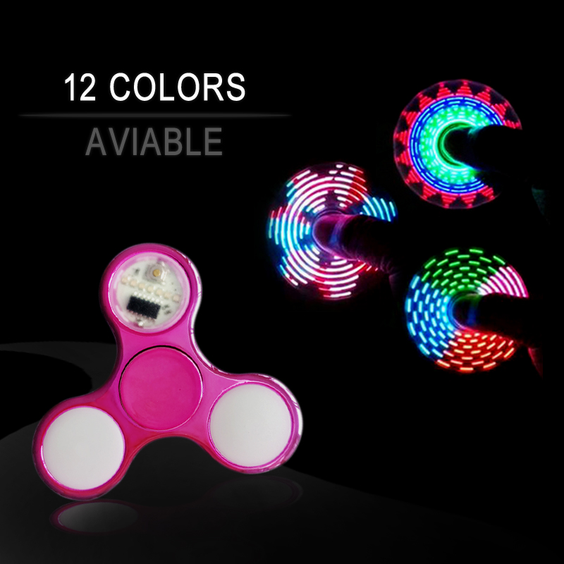 купить New Light Fidget Spinner Led Stress Hand Spinners Glow In The Dark Figet Spiner Cube EDC Anti-stress Finger Spinner по цене 108.12 рублей