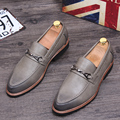 Tidog British business leather shoes men fashion loafer shoes