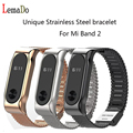Lemado mental replacable Strap For Xiaomi Mi Band 2 Stainless Steel Bracelet for Miband 2 Bracelet