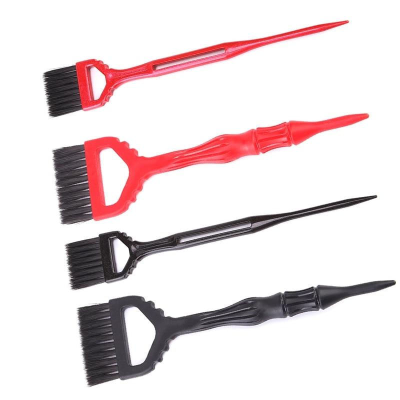 1Pcs Hair Brush Salon Hair Color Dye Plastic Nylon Hair Hairdressing Soft Brush Color Dye Tint Tool Accessories