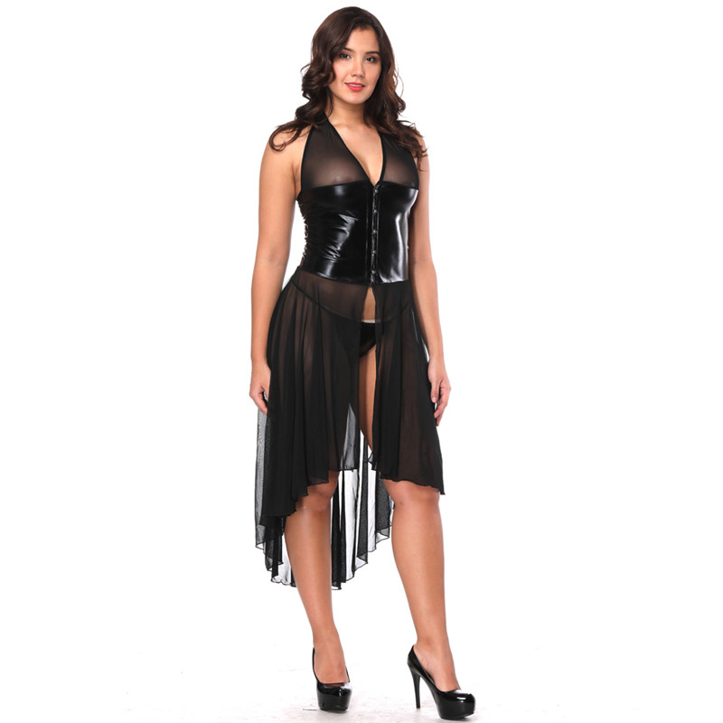 302f0097c8b YuayXea Europe Hot sell Sexy Lingerie Temptation Transparent Mesh Gauze  Sleeveless Dress Stage Performance Costum Long Skirt-in Babydolls    Chemises from ...