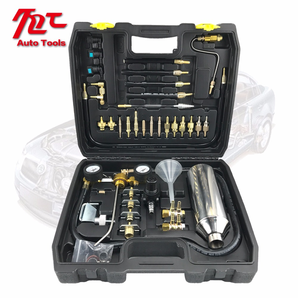 Universal Car Fuel System Injector Nozzle Gasoline Cleaner Machine Non Dismantle Bottle Air Intake Cleaning Tester Tool Set