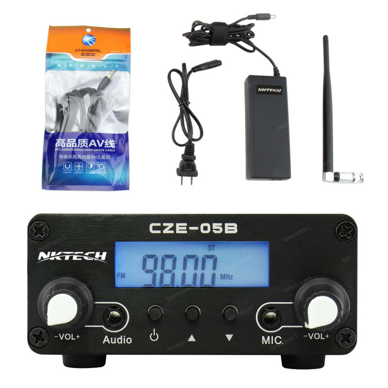 NKTECH FM transmitter FMU CZE-05B 100mW/500mW 0.5W 76-108Mhz Home Dual Mode Long Range Stereo FM Transmitter cze 01a 0 1 1w 1 5 lcd adjustable stereo audio fm radio transmitter black silver