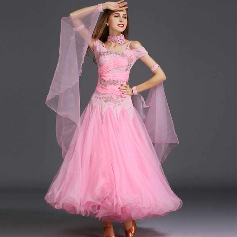 Платья для участия в конкурсах бального танца, Танцы бальное платье, для вальса платья Стандартный Танцы платье стандартный бальный зал платье Женская Одежда для танцев