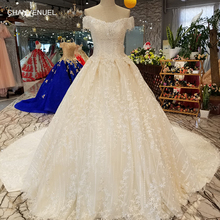 98e43975b5441 LS30074 sexy off shoulder shiny wedding gown 2018 with beading v-neck lace  up back