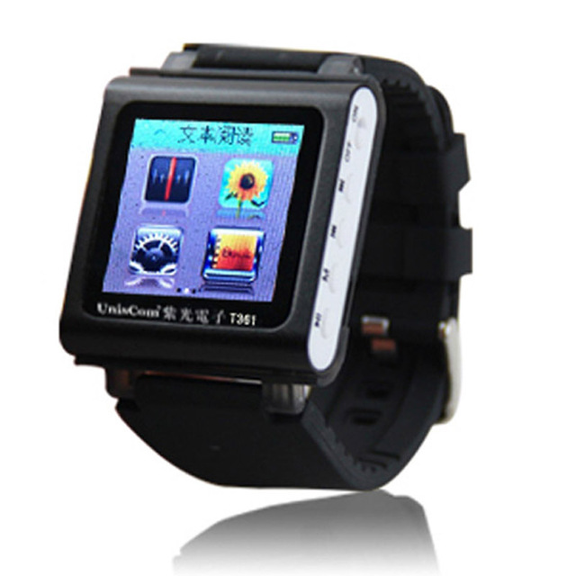 2016 8GB MP4 Player 1.5 inch Screen Brand Watch MP4 Movies Sport Chip MP4 Player Recording Radio FM Player E-Book Accelerometer