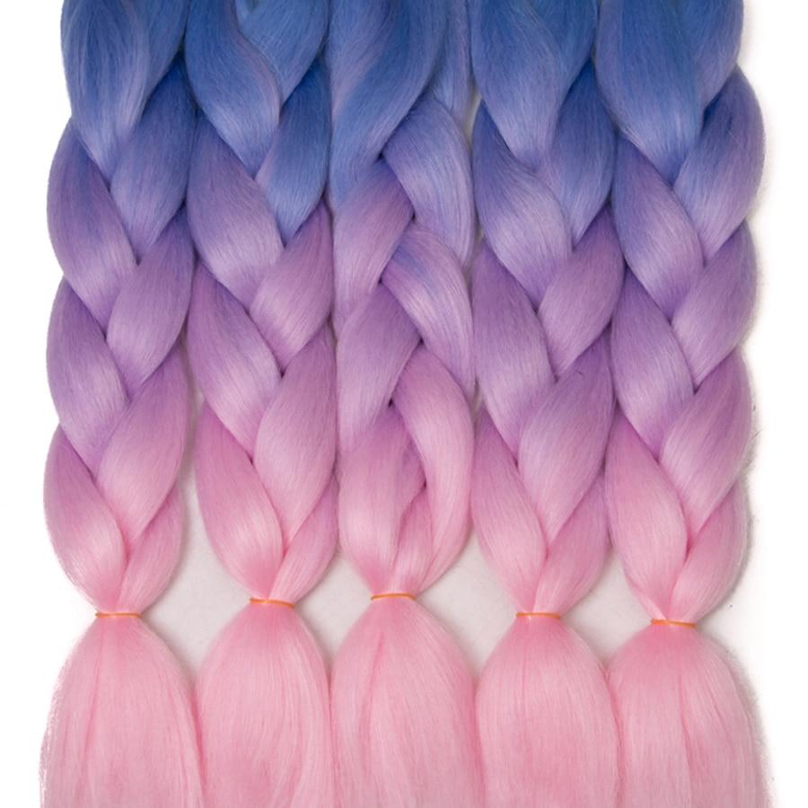 VERVES Braiding Hair 1 Piece 24inch Jumbo Braids 100g/piece Synthetic Ombre High Temperature Fiber Hair Extensions Crochet Braid