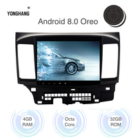 Android 8.0 Car Multimedia Player for Mitsubishi Lancer Navigation 2007 2017 with 10.2 Touch Screen 4*45w Speaker RDS WIFI BT