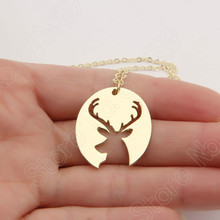 Deer Antler Necklace Elk Antlers Buck Great Outdoors Hunter Wife Hunting Choker Women Necklace Pendant Christmas
