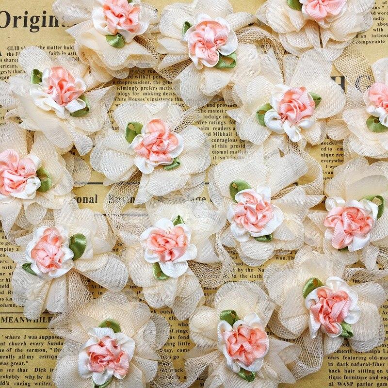 GXINUG 1 yarda Rosa flor bordado cinta para ajuste, cordón cinta cosido a mano de tejidos artesanía para apliques accesorios de vestir ¡Nuevo! DIY álbum de fotos de 16 pulgadas para amantes de lino, regalo de cumpleaños, fotos de boda, álbum de recortes de papel para bebé, manualidades, álbumes adhesivos