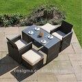 2017 Hot Sale Folding Balcony Rattan Outdoor Garden Table Set