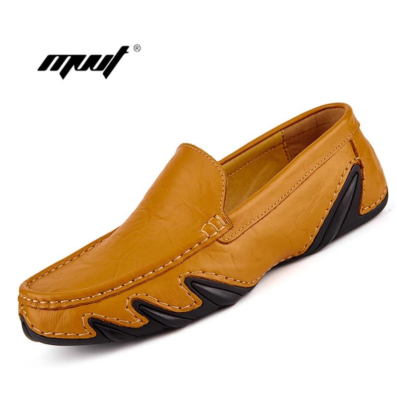 Genuine Leather Men Shoes Spring Summer Breathable Men Casual Shoes Slip on Men Loafers Moccasins Men