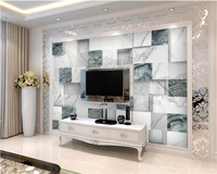 Beibehang Custom 3D Wallpaper HD Upscale 3D Stereo European Marble Texture Living Room With TV Sofa