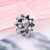 2018 Autumn Fashion Jewelry S925 Sterling Silver Wishing Star CZ Charm Beads Fits European Bracelets Necklaces Jewelry