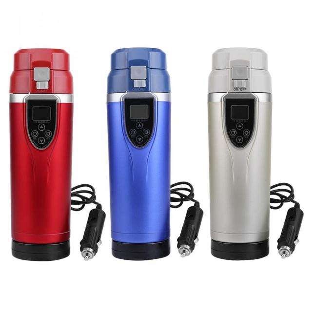 1Set Car Portable Electric Travel Heating Cup Coffee Tea Boiling Mug Kettle Auto Accessories car kettle Durable 12V 350ml