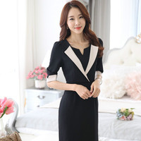 2016 Wool Good Quality Female Korean Version Of The New One Step Dress Slim Skirt Long