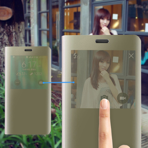 Image 5 - Case For Samsung Galaxy Note 4 Note4 SM N910 N9100 N910F N910C N910H SM N910F SM N910C Flip Mirror Smart View Cover With Chip
