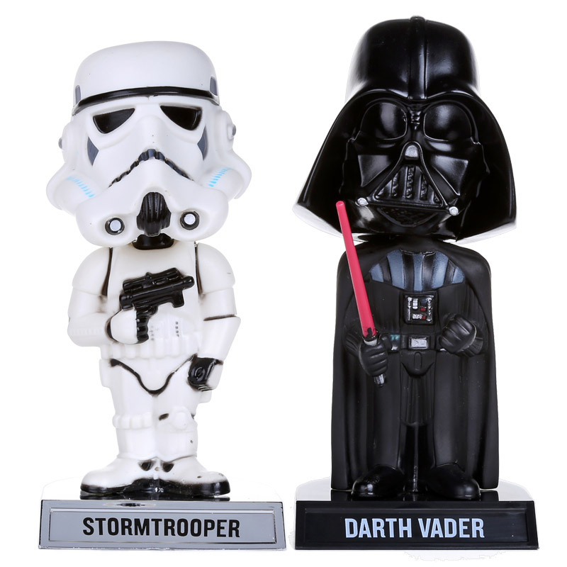 Star Wars Stormtrooper Darth Vader Wacky Wobbler Bobble Head PVC Action Figure Collection Toy Doll 7