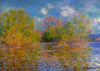 High quality Oil painting Canvas Reproductions The Seine near Giverny (1888)  By Claude Monet hand painted