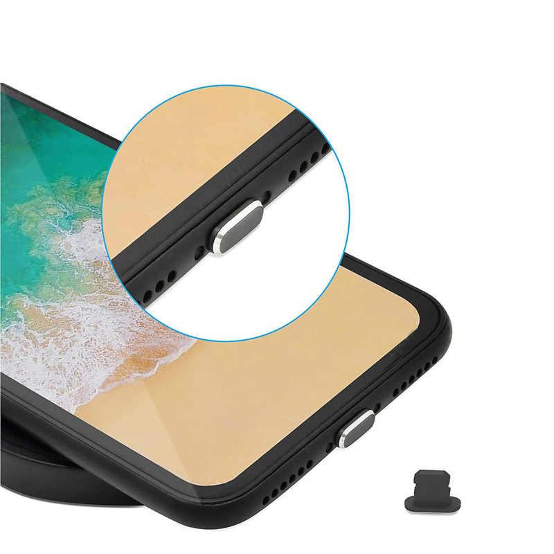 IPUMYNO 2 pçs/lote Design porto De Carregamento porta de dados Anti Poeira Ficha para iphone de metal De Carga Porto Plug Poeira para o iphone 8 7 6 Mais 5