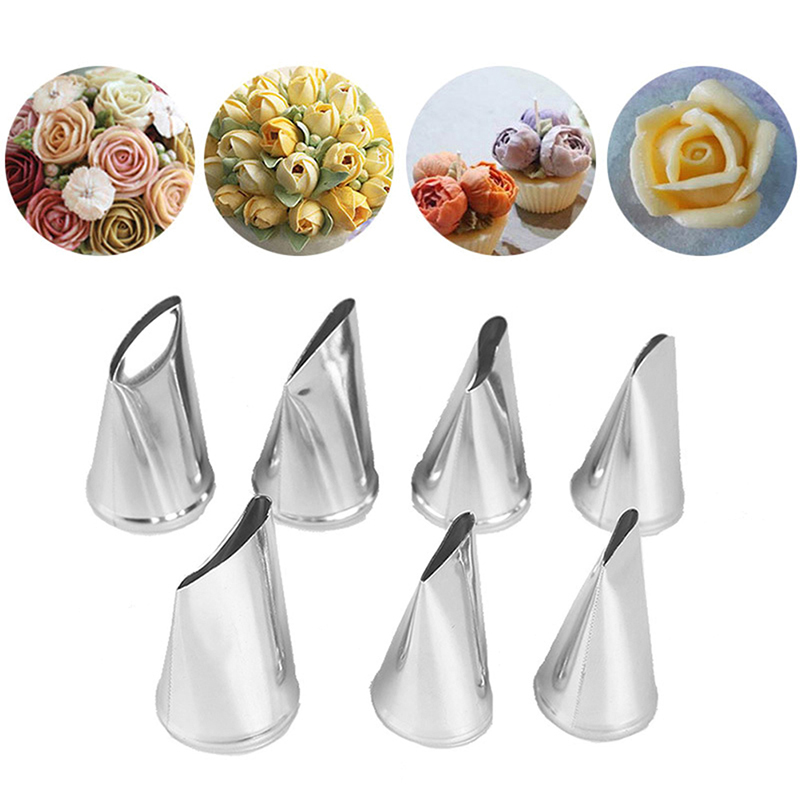 Pastry-Tools Rose-Nozzle-Cream Kitchen-Accessory Icing Tip-Set Decorating Sugar-Craft