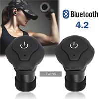 Bluetooth Headphones Mini Wireless Earbuds Sports Bass Earphone With Mic True Bass Twins Stereo In Ear