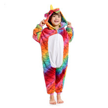 Купить с кэшбэком Kids Costume Girl Sleepwear Panda Onesie Blanket Pajamas Kigurumi Pajamas for Children Girls Unicorn Anime Baby Licorne Sleeper