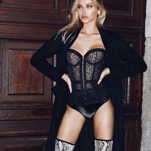 Vero Sinly Women Sexy Lace Black Bandage 2018 Celebrity Designer Bodysuit