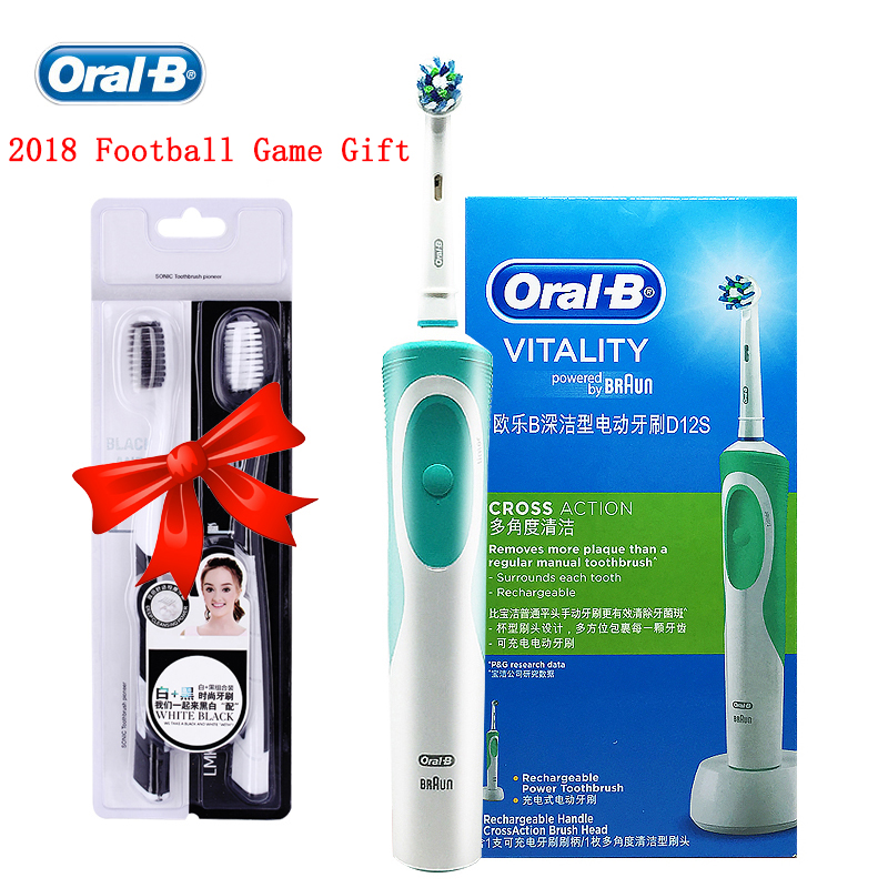 Oral B Vitality D12 Sonic Electric Toothbrush Rotating Rechargeable Precision Clean Teeth Brush Imported From German Brush Teeth