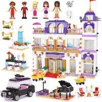 1676 шт. друзья Heartlake Гранд Отель строительные блоки кирпичи девушки игрушки Совместимость с Legoingly 41101 для детей Подарки