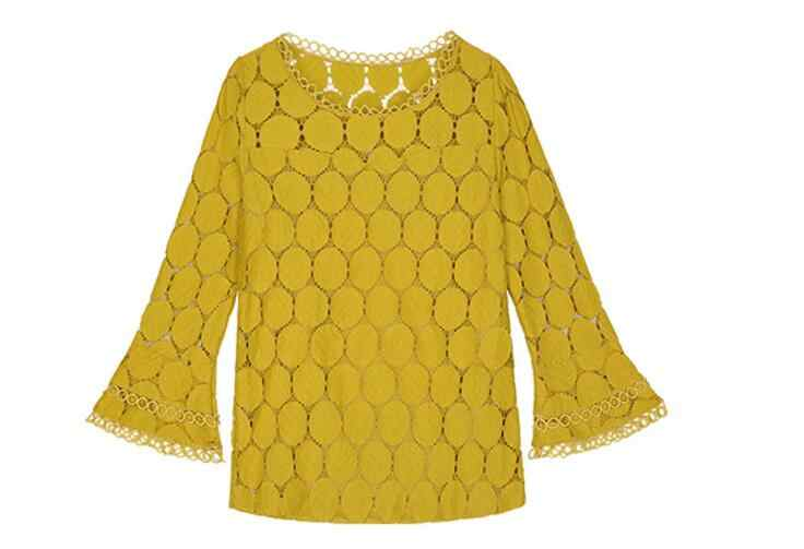 新 2018 autumnfashion スタイルレース女性ブラウスカジュアル flare スリーブソリッド ciffion トップスプラスサイズの女性のシャツ blusas 905E 30