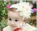 Hot vender frete grátis cor sólida flor e forma de ninho de pássaro Chiffon headbands para bonito e encantador do bebê da menina
