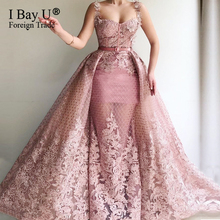 3D Organza Flower Sexy Mermaid Evening Dresses 2019