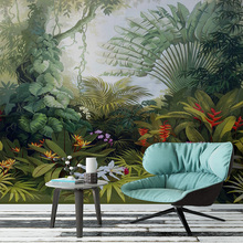 Custom Wallpapers European Style Retro Tropical Rain Forest Plant