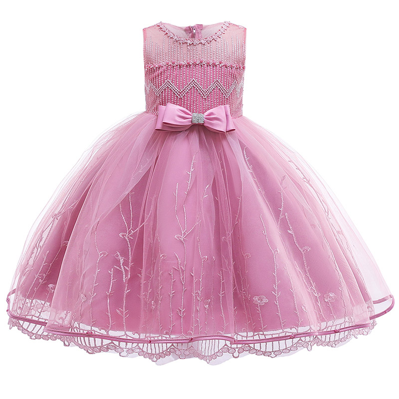 Summer New Girl Dresses Children's Party Clothing Girl Ball Gown Clothes First Communion Princess Dress Baby Costume Clothes
