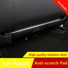 Anti-scratch pad For Volkswagen Passat 2019 Rear Seat anti-kick plate anti-scratch wire drawing stainless steel trim 2pcs