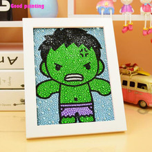 hot deal buy good 5d diy diamond painting avenger hulk full diamond embroidery painting 3 sizes diamond stones kits children handmade ability