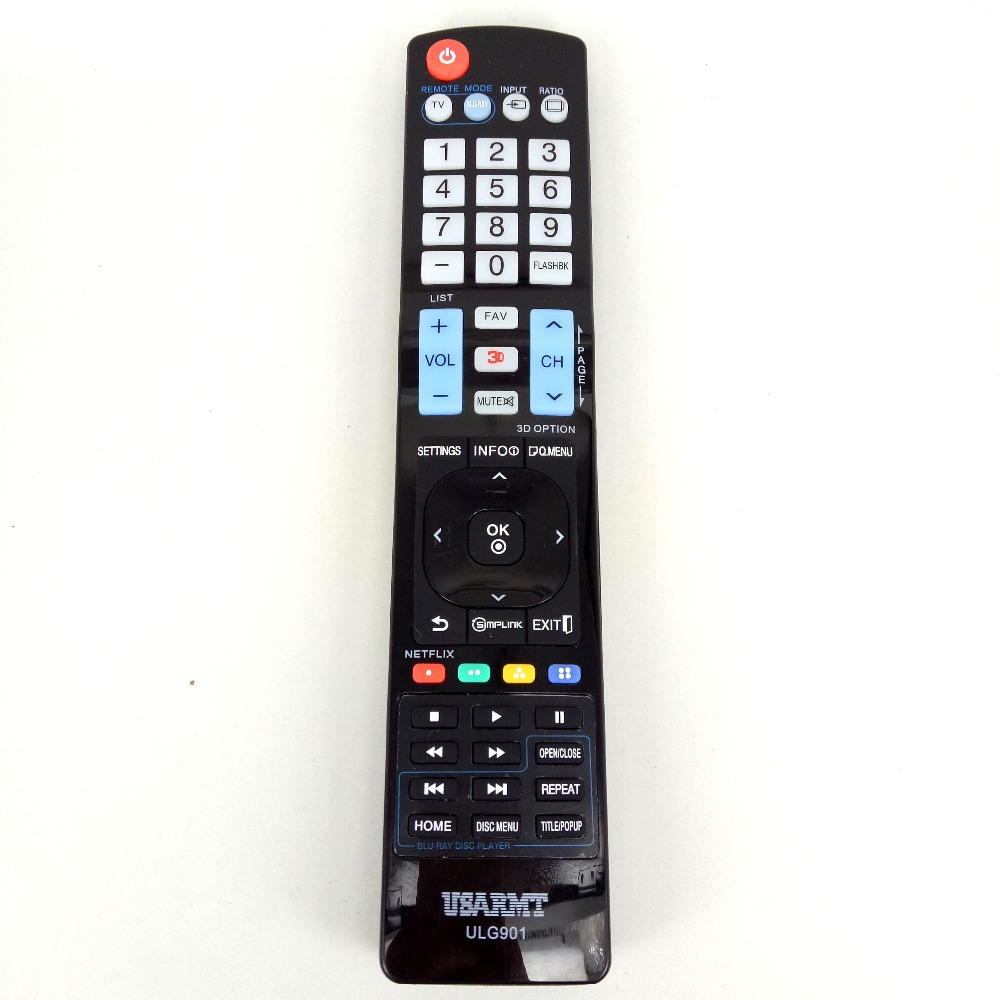 NEW FOR LG ULG901 TV Blu-ray DVD player Universal Remote FOR AKB72914201 72915252 AKB729 ...