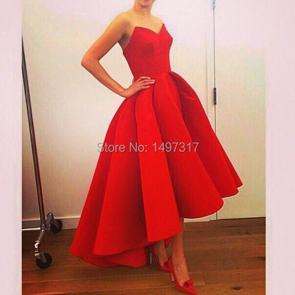 Free-Shipping-Vestidos-New-A-Line-Puffy-Satin-Hot-Red-Hi-Lo-Summer-Myriam-Fares-Party (2).jpg