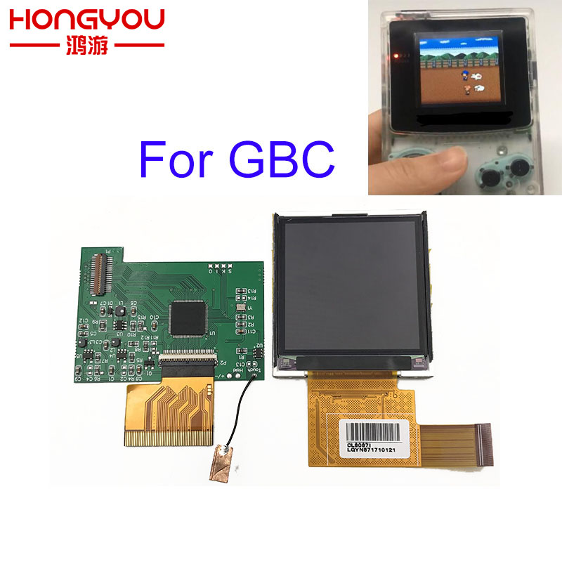 For Nintend GBC High Light Screen LCD Modification Kit Plug And Use For NGBP Highlit Screen LCD OEM Backlit Brighter Kit