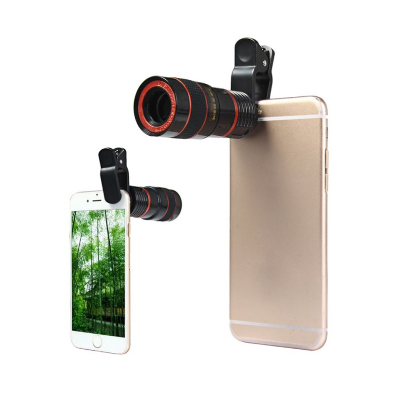 1pc New Universal 8X Optical Zoom Telescope Camera Lens For iPhone Mobile Phone Lens With Clip For Samsung Xiaomi Smartphones